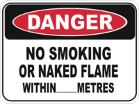 No Smoking Naked Flame