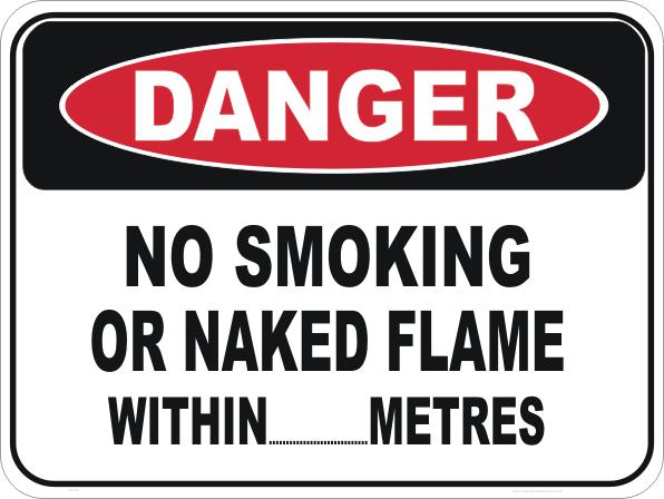 No Smoking Naked Flame