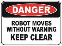 machinery robot danger sign