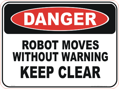 machinery robot danger sign