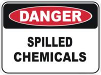 chemical spill sign