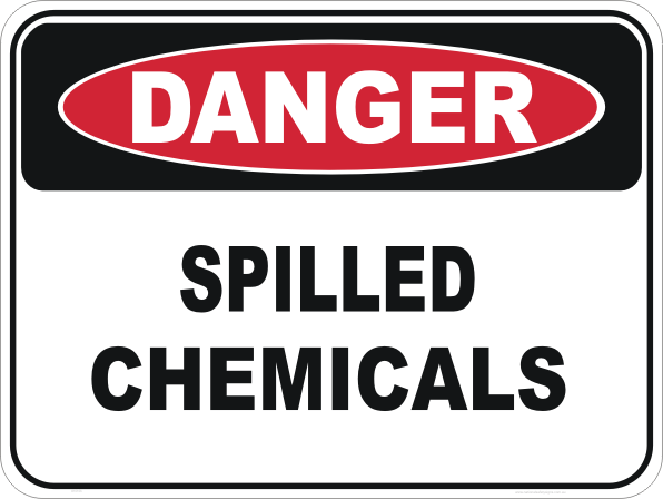 chemical spill sign
