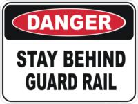 guard rail sign