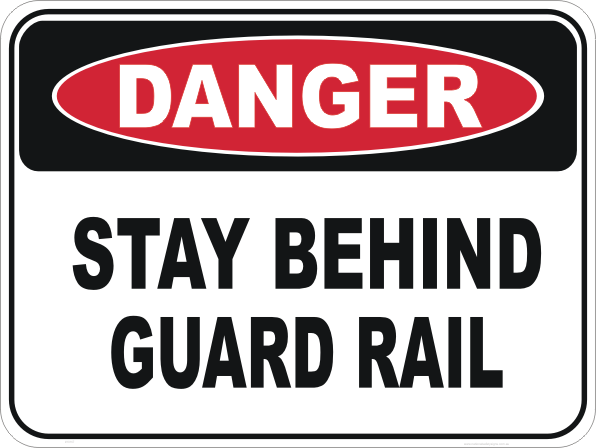 guard rail sign