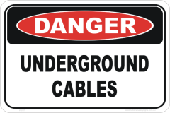 Underground cable sign