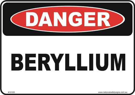 Beryllium sign
