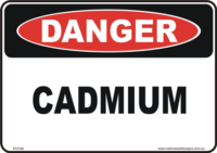 Cadmium danger sign