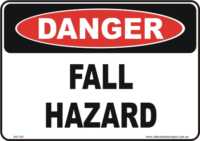 Fall Hazard danger sign