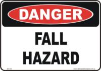Fall Hazard danger sign
