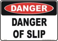 slip danger sign