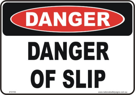 slip danger sign