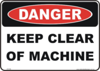 Keep clear of Machine danger sign