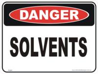 solvents danger sign