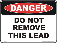 Do not remove lead danger sign