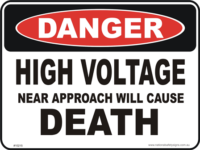 high Voltage DEATH danger sign