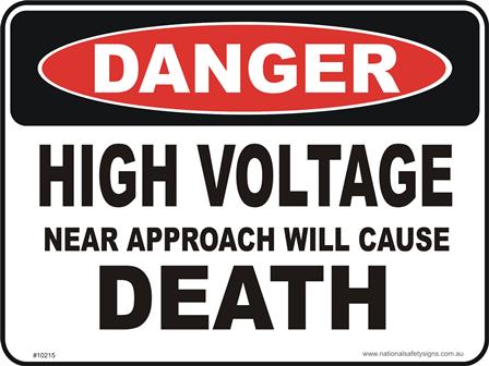 high Voltage DEATH danger sign