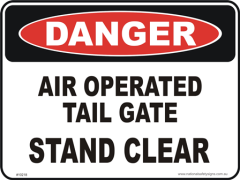Air operated Tail gate danger sign