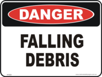 Falling Debris danger sign