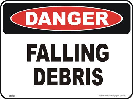 Falling Debris danger sign