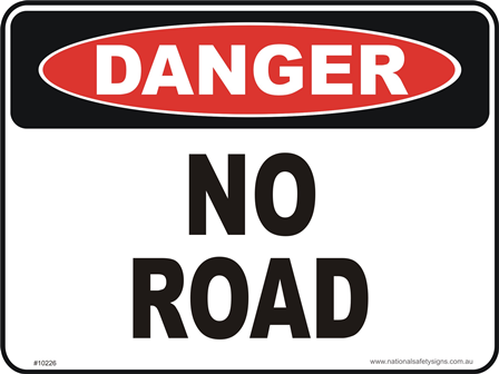 No road danger sign