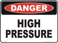 High pressure danger sign