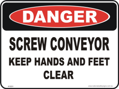 screw conveyers danger sign