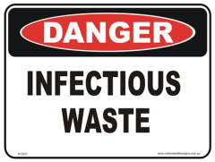 Infectious waste danger sign
