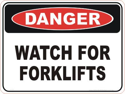 Watch for forklifts danger sign
