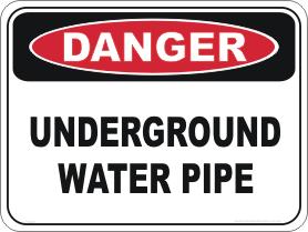 Underground Water Pipe