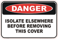 Isolate Elsewhere danger sign