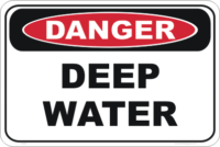 deep water danger sign
