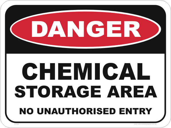 Chemical Storage Area D1026 National Safety Signs