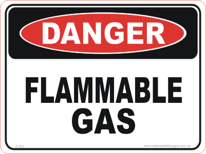Gas Under Pressure sign - Warning Sign - National Safety Signs