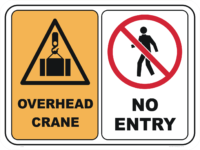 overhead crane no entry