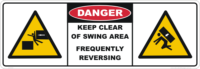 Keep Clear Swing Area Excavator sticker kit