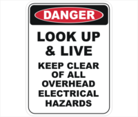 keep clear of electrical hazards