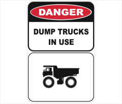 dump trucks in use
