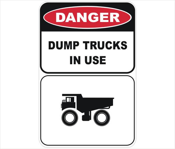 dump trucks in use
