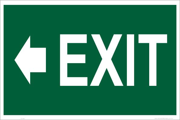 emergency exit left arrow