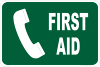First Aid phone sign