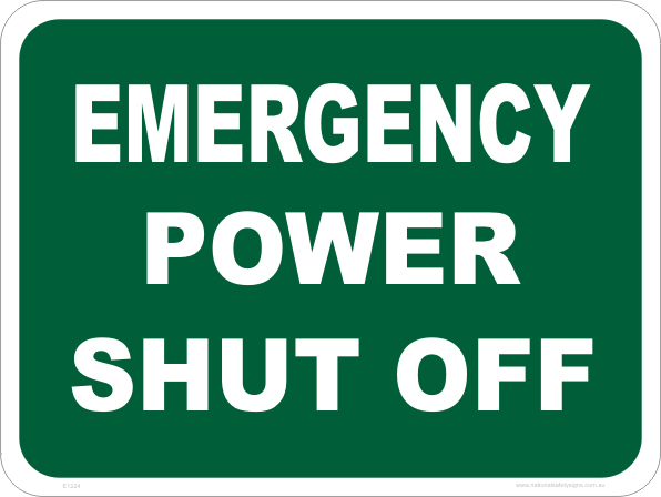 Emergency Power Shut Off