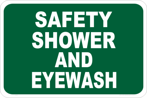 safety shower and eye wash