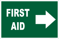 first aid right arrow