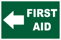 first aid left arrow sign