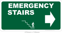 Emergency Stairs sign