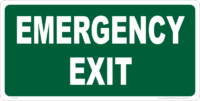 Emergency Signs emergency exit