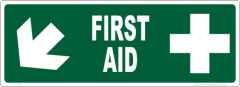 First Aid sticker sign