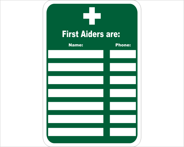 first aid people list