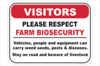 Farm Biosecurity Sign without Phone Number
