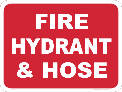 Fire Hydrant & Hose sign
